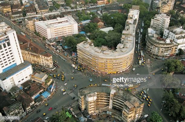 Aerial view of nana chowk at Mumbai, maharashtra, India
