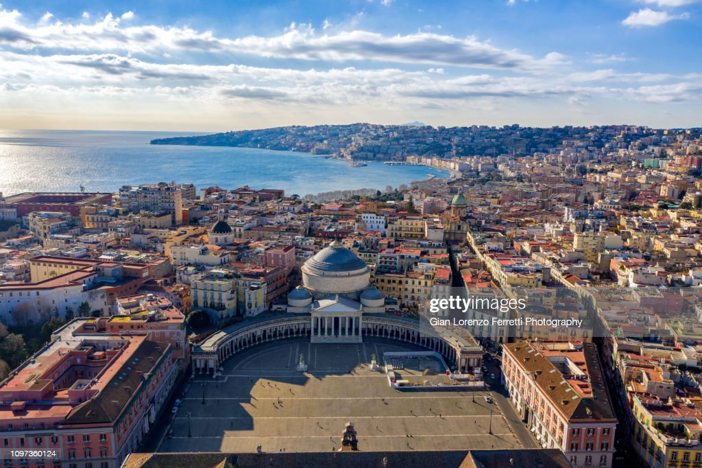 Aerial View of Naples, Italy : Stock Photo