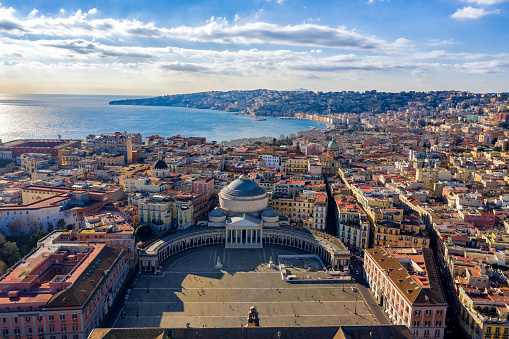 Aerial View of Naples, Italy 1097360124