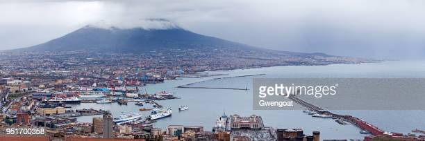 aerial view of naples - gwengoat stock pictures, royalty-free photos & images