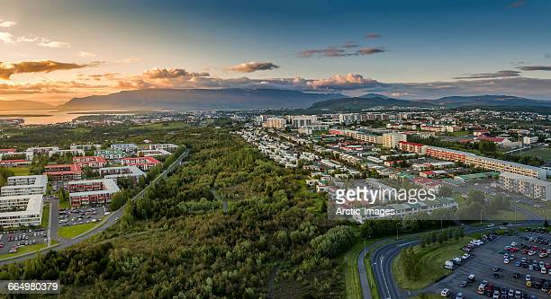 Aerial view of Neighborhood of Reykjavik