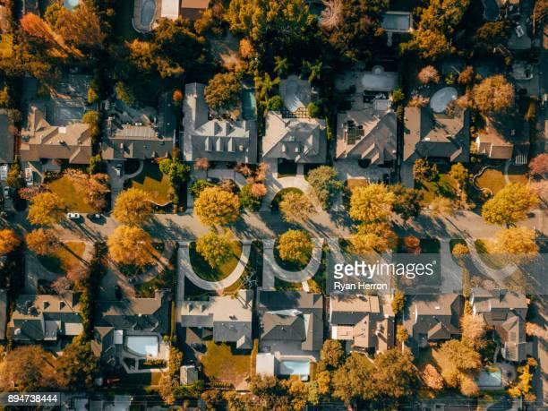 Vista aérea del vecindario
