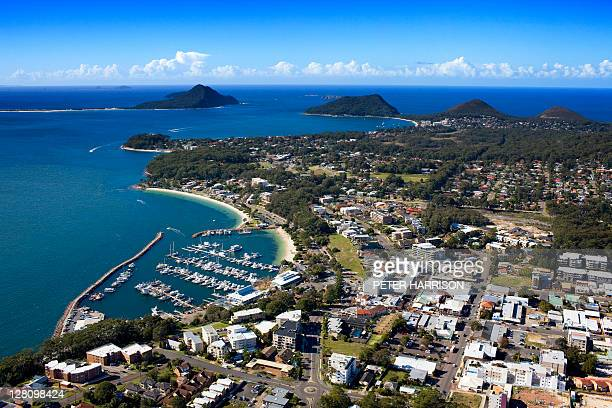 Aerial view of Nelson Bay, Port Stephens, NSW, Australia