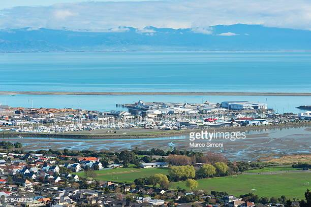Aerial view of Nelson, South Island, New Zealand, Pacific