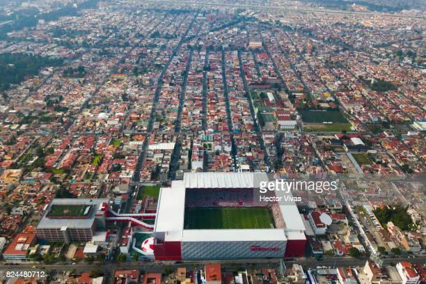Aerial view of Nemesio Diez stadium prior the 2nd round match between Toluca and Leon as part of the Torneo Apertura 2017 Liga MX at Nemesio Diez...