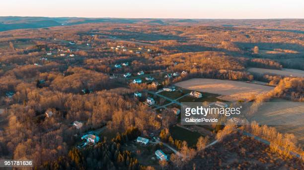 aerial view of new milford connecticut - new haven connecticut stock pictures, royalty-free photos & images