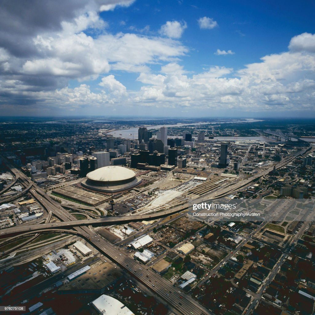 Aerial view of New Orleans, Louisiana, USA. : News Photo