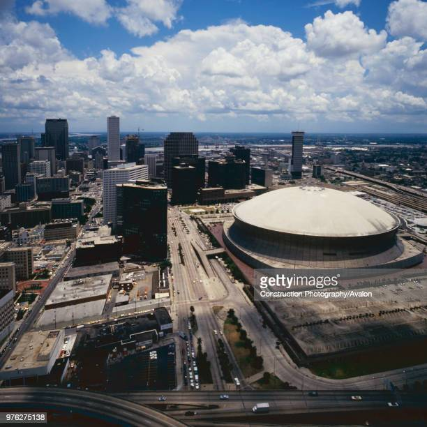 Aerial view of New Orleans Louisiana USA