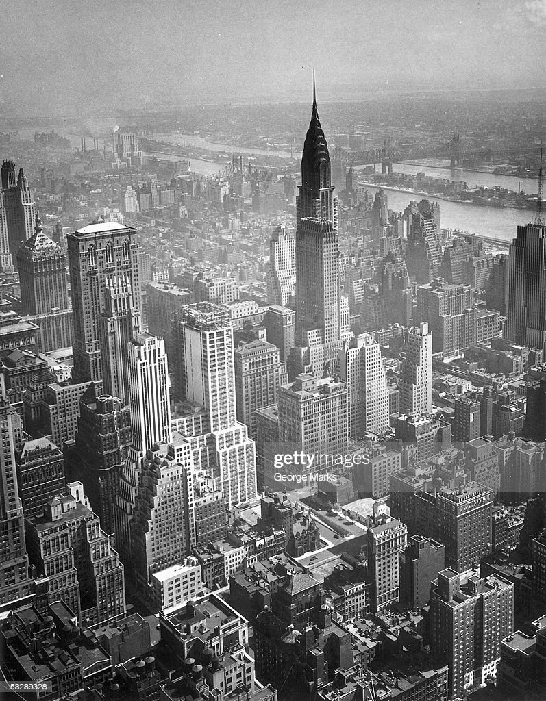 Aerial view of New York City : Stockfoto