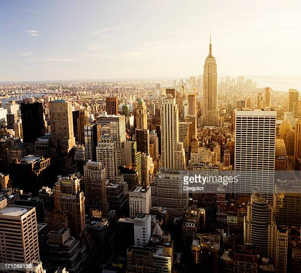 Aerial View of New York City Skyline USA