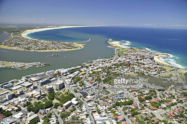 Aerial view of Newcastle, NSW, Australia