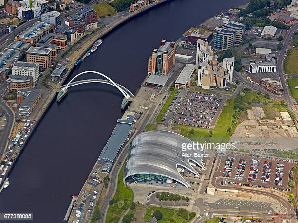 Aerial view of Newcastle quayside