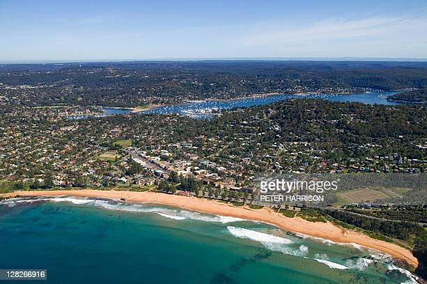 Aerial view of Newport, New South Wales, Australia