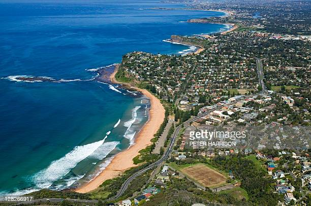 aerial view of newport, new south wales, australia - north stock pictures, royalty-free photos & images