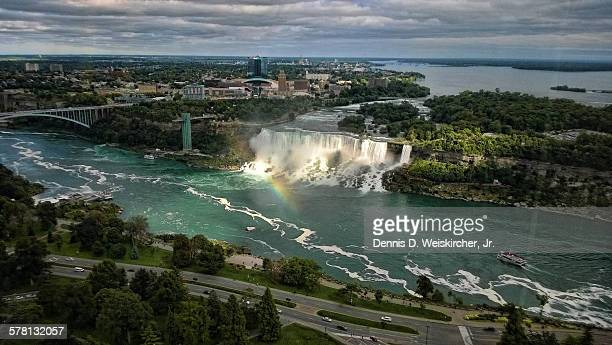 Aerial view of Niagara falls American side