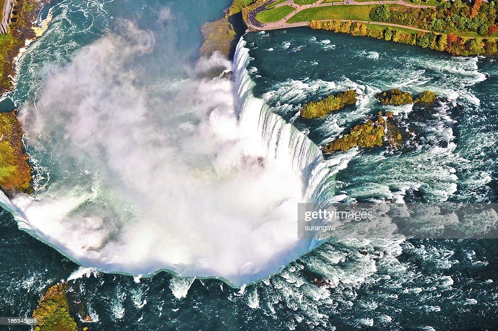 Aerial view of Niagara waterfall : Stock Photo