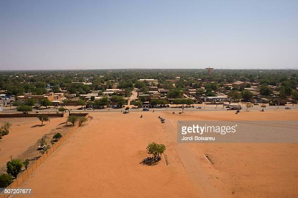 Aerial view of Niamey.