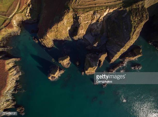 Aerial view of Nohaval Cove, Ballyfoyle, County Cork, Ireland