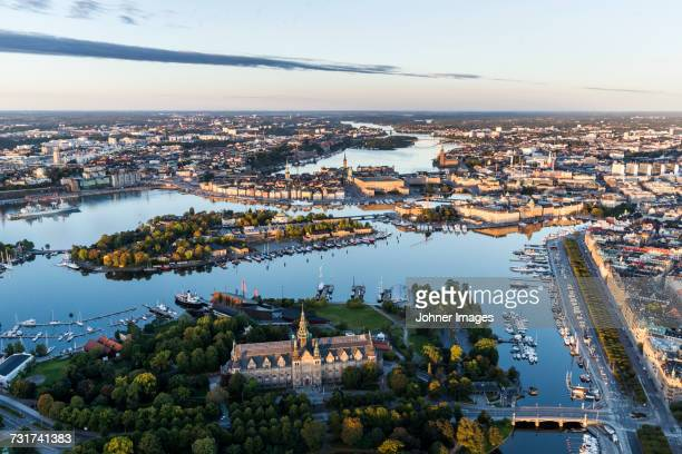 aerial view of nordic museum, stockholm, sweden - stockholm stock pictures, royalty-free photos & images