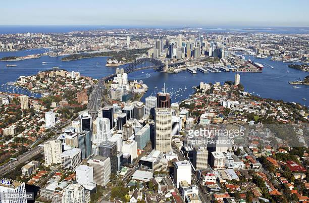 aerial view of north sydney, nsw, australia - north stock pictures, royalty-free photos & images