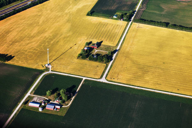 Aerial View of Northern Illinois Farms