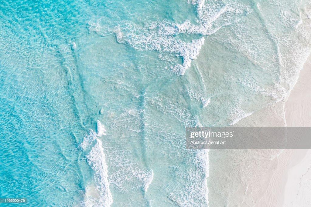 Aerial view of ocean and a beach, Esperance, Australia : Foto stock