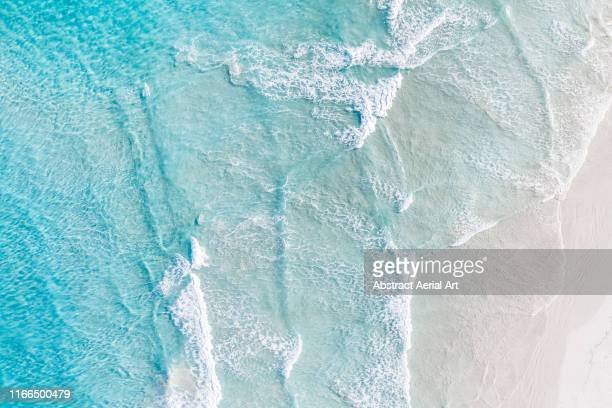 aerial view of ocean and a beach, esperance, australia - strand stockfoto's en -beelden