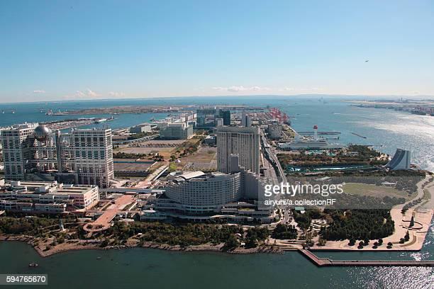 Aerial view of Odaiba, Minato ward, Tokyo Prefecture, Honshu, Japan