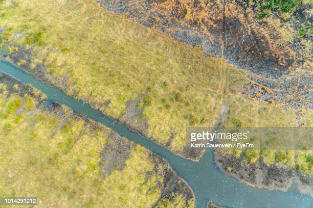 Aerial View Of Okavango River After Fire