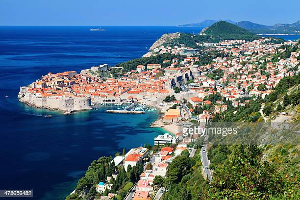 Aerial view of Old Town Dubrovnik, Croatia