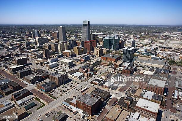Aerial view of Omaha, Nebraska