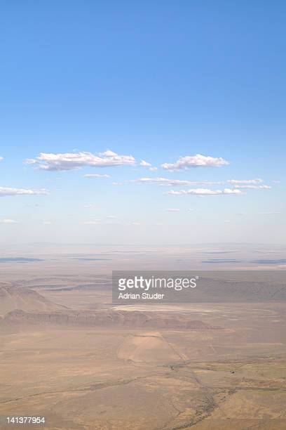 aerial view of oregon high desert - steens mountain stock pictures, royalty-free photos & images
