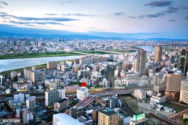 大阪市の航空写真
