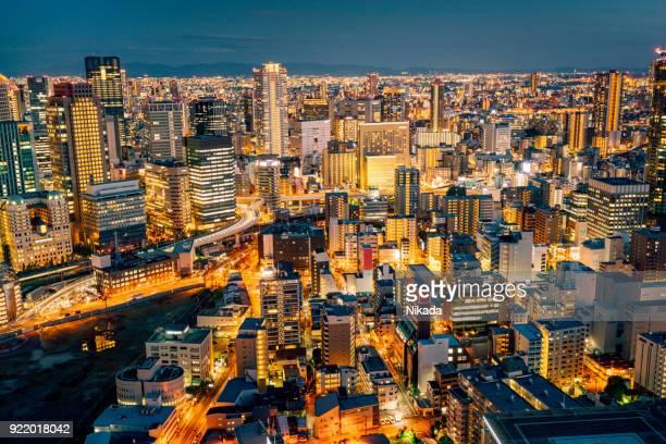 大阪市の航空写真 - 兵庫県 ストックフォトと画像