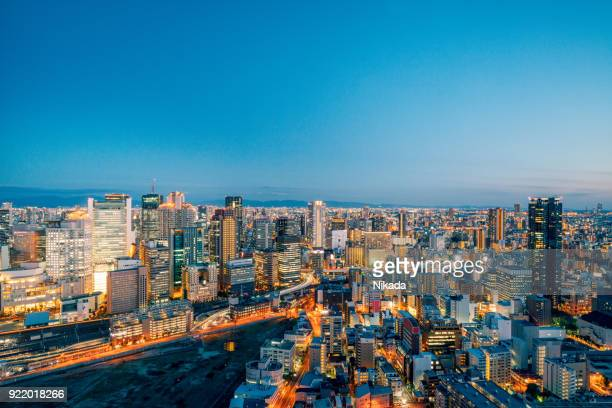 Luftaufnahme von Osaka, Japan