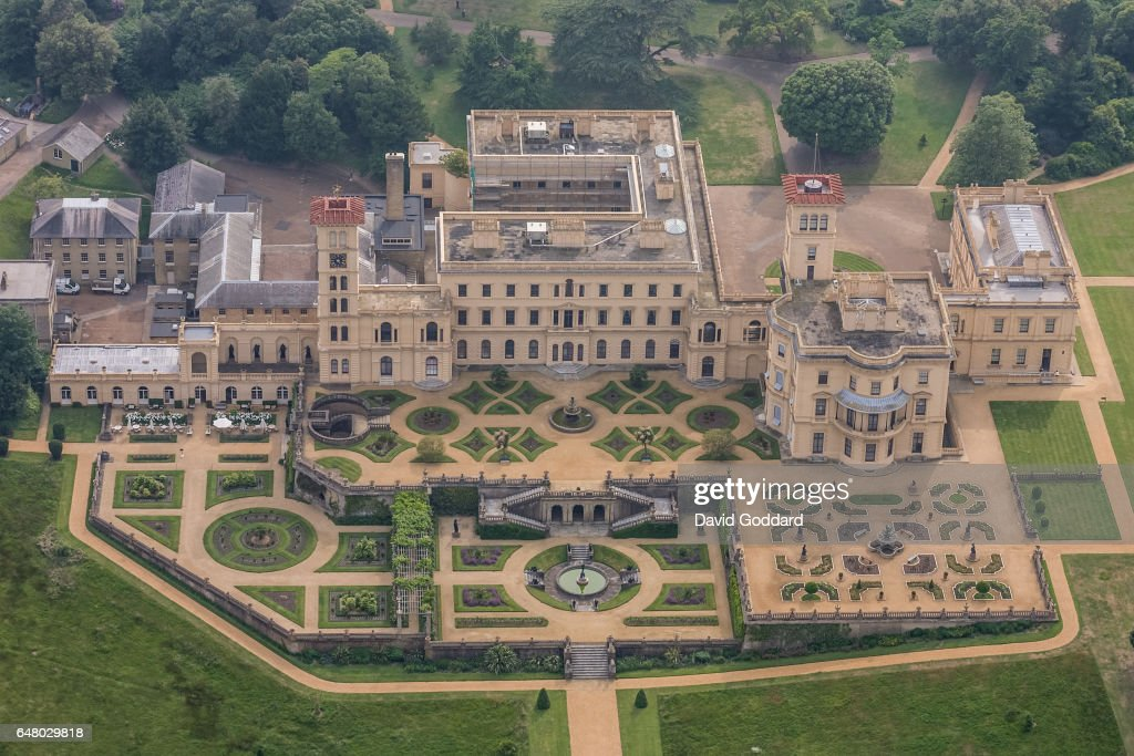 KINGDOM. Aerial view of Osborne house on October 10, 2011. Located on the northern tip of the Isle of Wight, East of Cowes lies the former royal residence of Queen Victoria.