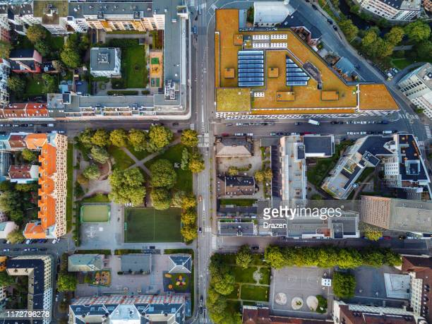 aerial view of oslo - oslo stock pictures, royalty-free photos & images