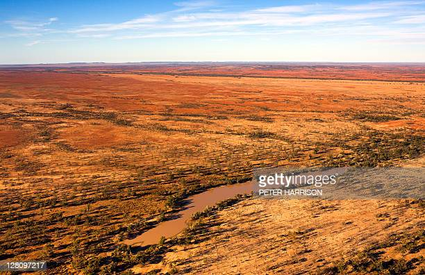 Aerial view of Outback Billabong, QLD, Australia