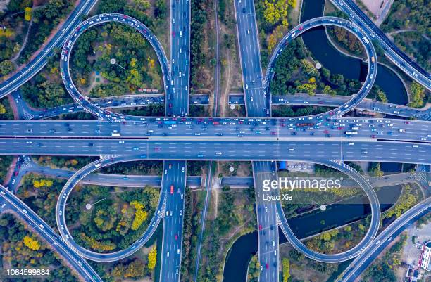 Aerial view of overpass pattern