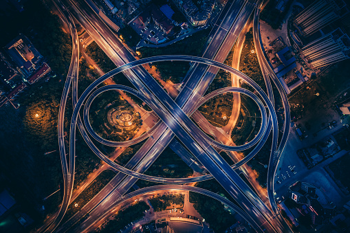 Aerial view of overpass - gettyimageskorea