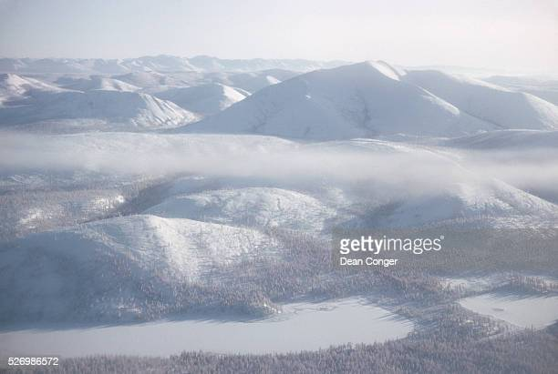 Aerial View of Oymyakon USSR