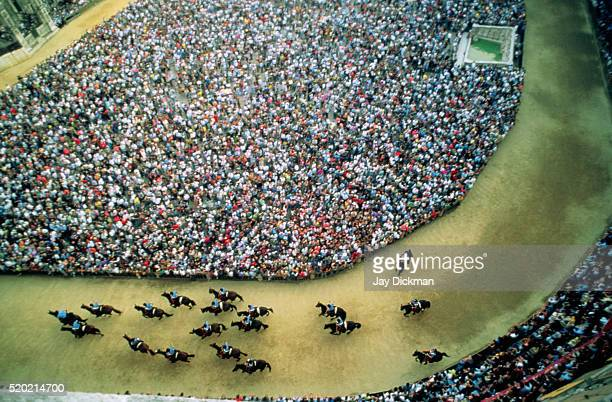 Aerial View of Palio Horse Race