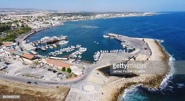 aerial view of paphos - republic of cyprus stock pictures, royalty-free photos & images
