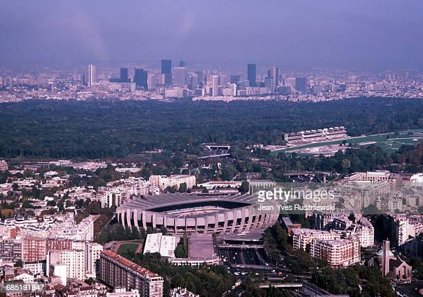 Aerial view of Parc des Princes Stadium in Paris