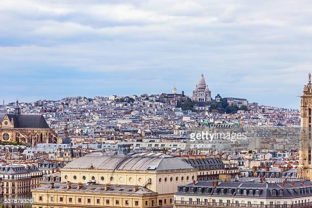 Vue aérienne de Paris et du Sacré Cour