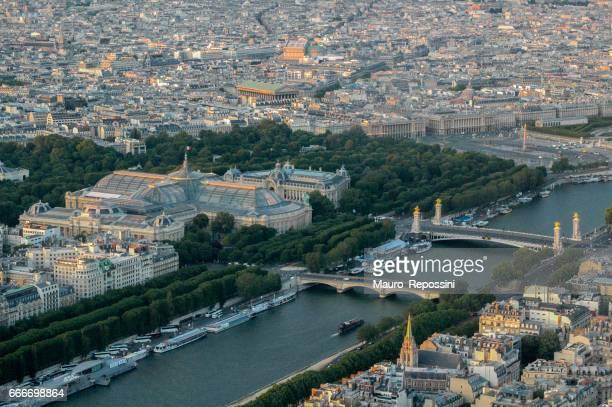 Vue aérienne de Paris, en France