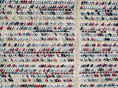 Aerial view of parked cars