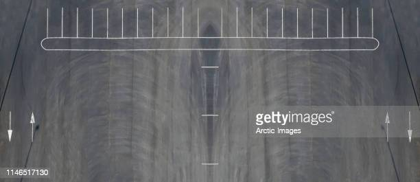 aerial view of parking lot lines, iceland - parking lot stock pictures, royalty-free photos & images