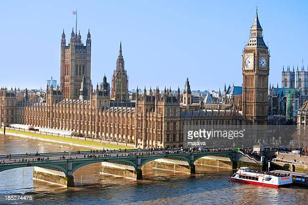 Aerial view of Parliament and Big Ben