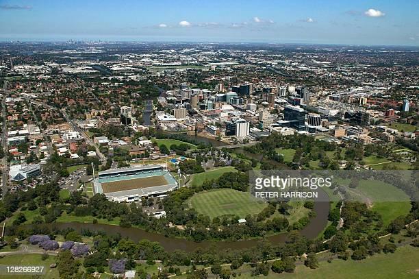 Aerial view of Parramatta, New South Wales, Australia